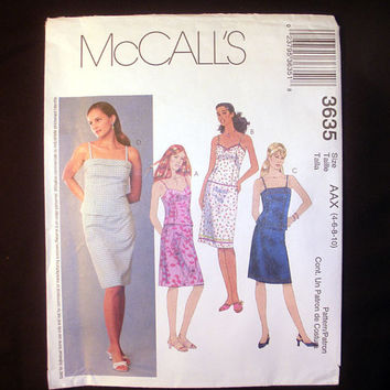 Two Piece Dress Spaghetti Strap Top, Sweetheart Neckline, Pencil Skirt, McCall's 3635 Sewing Pattern Uncut