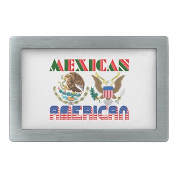 Mexican American Eagles Belt Buckle