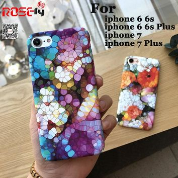 Colorful Stone Flower Case For iphone 7 6 6S PLus Phone Cases Cute Cartoon Diamond Pattern