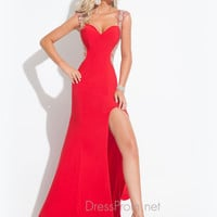 Cut Out Back With High Slit Prom Dress By Rachel Allan 6879