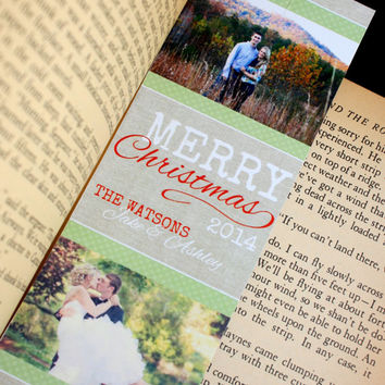 Custom Christmas Card Bookmarks.