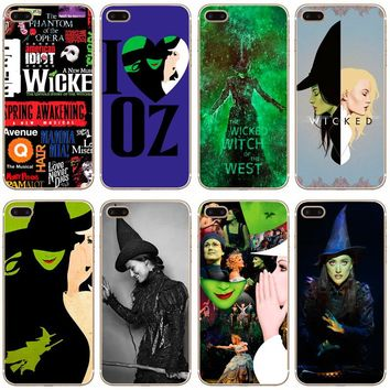 G67 Broadway Musical Wicked Transparent Hard Thin Case Cover For Apple iPhone XR XS Max 4 4S 5 5S SE 5C 6 6S 7 8 X Plus