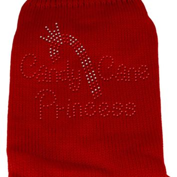 Candy Cane Princess Knit Pet Sweater Lg Red large