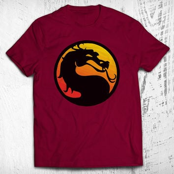 Mortal Kombat Dragon Men's Video Game T-shirt