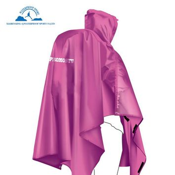 Rain Poncho Sotical Veamor 3 in 1 Multifunctional Portable Raincoat with Hood Hiking Camping Mat Cycling Rain Cover Poncho New