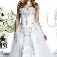 Tarik Ediz White G1022 Dress