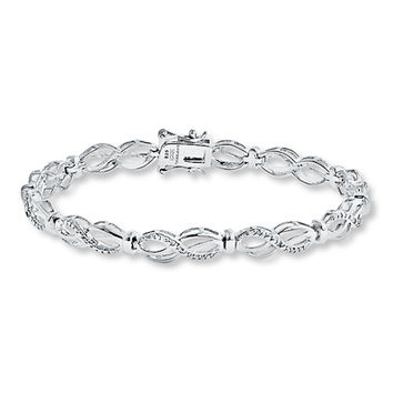 bracelet diamond infinity x designer paired white link gold