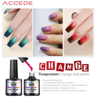 ACCEDE Fashion Women Nail Polish Temperature Change 6 Colors Nail Color UV Gel for Nail Soak Off Gel Polish 2017 Hot Sale
