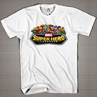 MARVEL SUPERHEROES PARODY  Mens and Women T-Shirt Available Color Black And White