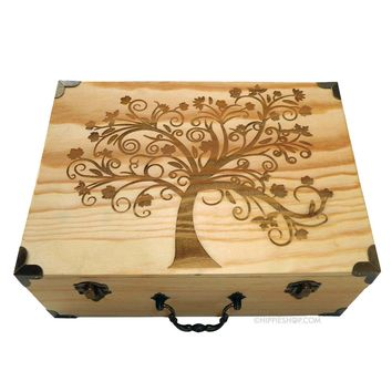 Tree of Life - Wood Stash Box on Sale for $65.00 at HippieShop.com