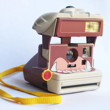 Rare TESTED Retro Taz Polaroid Camera | Working Instant Film Photography, Tasmanian Devil, Looney Tunes, 90s Warner Bros Cartoon Gift