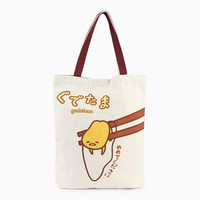 Gudetama Canvas Tote: Put Me Down