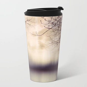 Travel Mug Metal - Abstract Tree Photograph - Coffee Travel Mug -  Hot or Cold - 15 oz Mug - Stainless Steel - Made to Order
