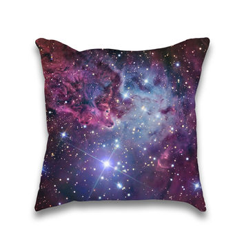 Nebula Galaxy Universe Print Throw Pillow