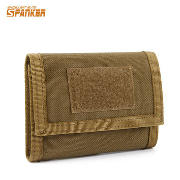 Military Tactical Outdoor Sports Nylon Trifold Wallet ID Credit Card Holder Coin Pocket Hunting Airsoft Camping Hiking Pouch