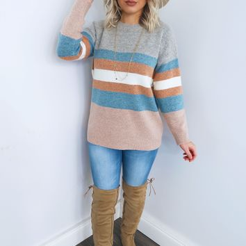 Living For Stripes Sweater: Multi
