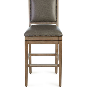 Collin Leather Swivel Barstool - Neiman Marcus