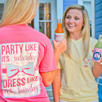 Jadelynn Brooke 'Party Like It's Saturday, Dress Like It's Sunday' Tee - Pink
