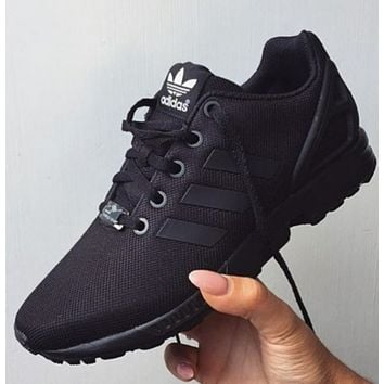 Adidas Originals ZX FLUX Trending Women Men Casual Black Sport Running Shoe Sneakers I