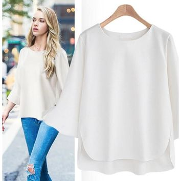 bad79c7bd4305f Woman tops Casual Long Sleeve Shirt Loose plus Size Linen blouse