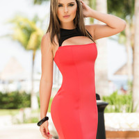 Slinky Summer Mini Dress-Light Summer Dress