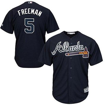 Freddie Freeman Atlanta Braves Navy Blue Toddler Cool Base Alternate Replica Jersey