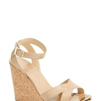 "Women's Jimmy Choo 'Papyrus' Cork Wedge Sandal, 4 1/4"" heel"
