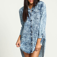 ACID WASH BOYFRIEND DENIM SHIRT