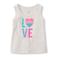 Toddler Girls Sleeveless Graphic Tank Top | The Children's Place