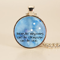 Great Gatsby Quote Charm Necklace