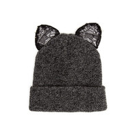 LACE KITTY BEANIE