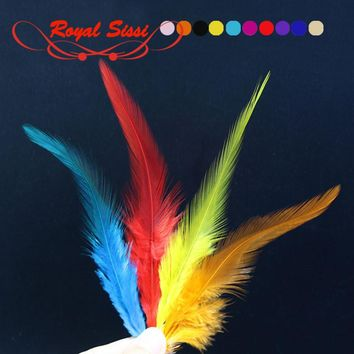 10 colors Fly Fishing rooster neck hackle for nymphal streamer&dry flies tying material lure/hybrid colors sellar hackle feather