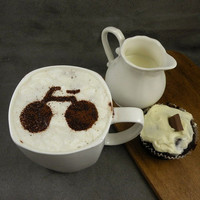 Bicycle  - coffee stencil, cake stencil, cupcake stencil