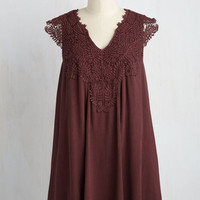 I Want it That Sway Dress in Burgundy | Mod Retro Vintage Dresses | ModCloth.com
