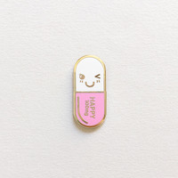 Mr. Happy Pill Lapel Pin
