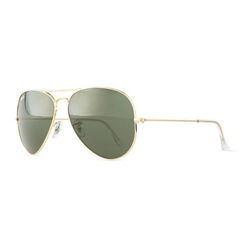 Original Aviator Sunglasses, Gold/Green - Ray-Ban