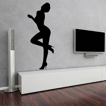 kik2232 Wall Decal Sticker sexy girl dancer dance hall bedroom