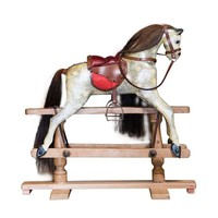 Pre-owned Antique Painted Wood Rocking Horse