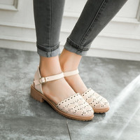 High Heels Hollow Out Sandals Ankle Straps Women Shoes