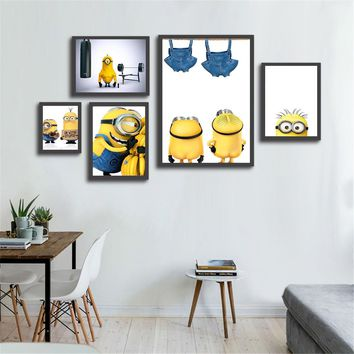 Canvas Painting Cartoon Minions Hero Home Decoration Wall Pictures for Living Room Kids Room Decor Movie Posters and Prints