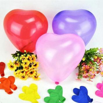 DCCKL72 10pcs/Lot 10inch 1.5g Heart-shape Latex Helium Balloons Wedding Birthday Party Holiday Decoration Ballon Kids Toy