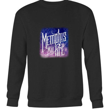 Memphis May Fire Logo Title Galaxy Blue Long Sweater