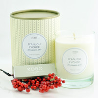 D'Anjou Lychee Candle design by Kobo Candles