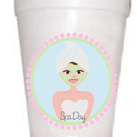 Spa Day Styrofoam Cups