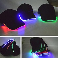 DCCKJL0 Personality LED Light Up Hip hop Cool Baseball Cap Hat