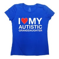 Autism Grandma Shirt Autism Gifts For Grandpa T Shirt Autistic Support TShirt Puzzle Piece Autism Advocate Speaks Mens Ladies Tee - SA1044