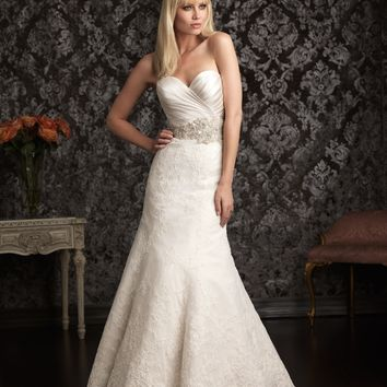 Allure Bridals 9004 Fit & Flare Lace Bridal Dress