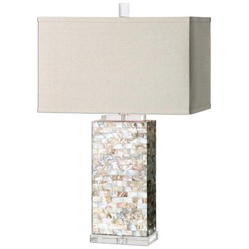 Aden Capiz Shell Lamp By Uttermost