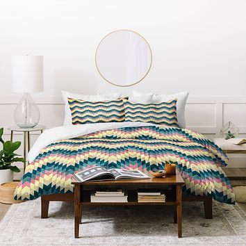 Belle13 Crazy Chevron Duvet Cover