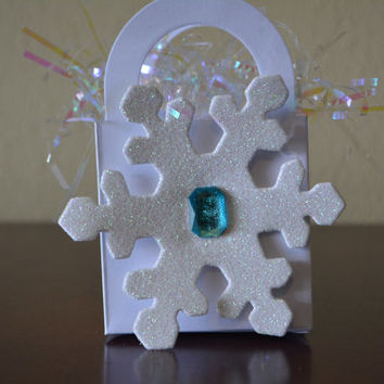Frozen inspired goodie bag - frozen goody bag, snowflake goodie bag, princess elsa, olaf, frozen party